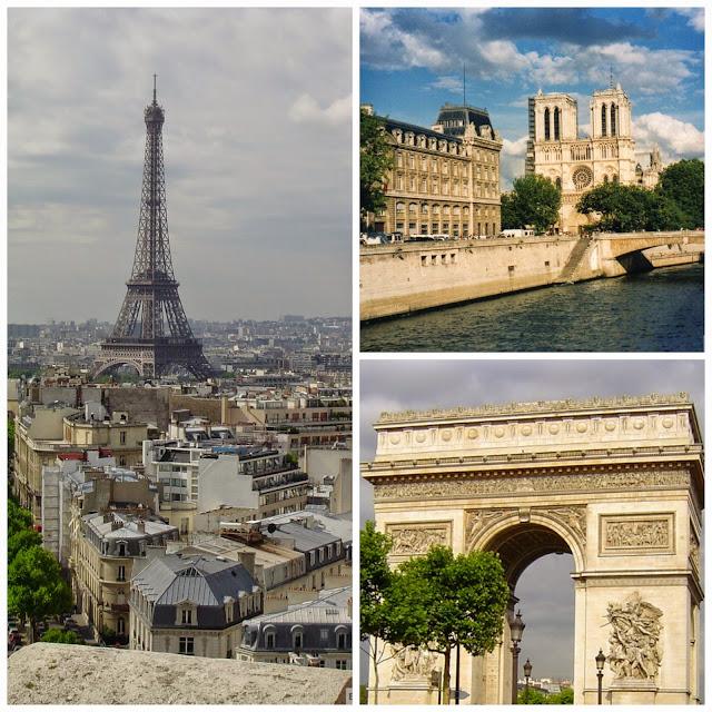 Torre Eiffel, Notre Dame e Arco do Triundo em Paris