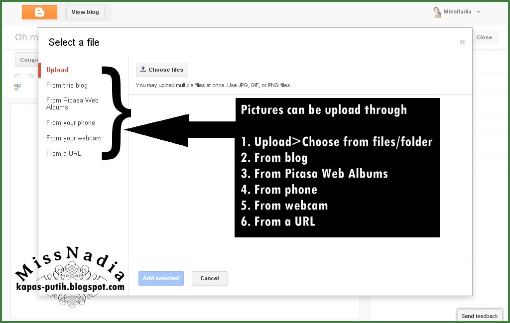 Tutorial: Masukkan gambar dari file komputer ke dalam entri blog