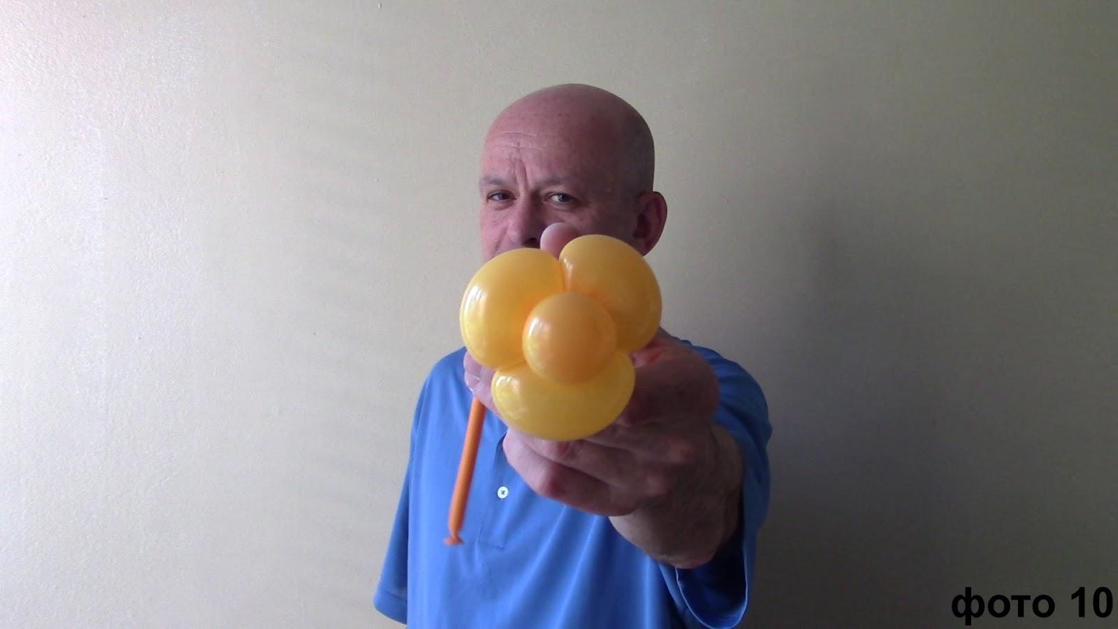 Как сделать стебель для цветка из шариков 591