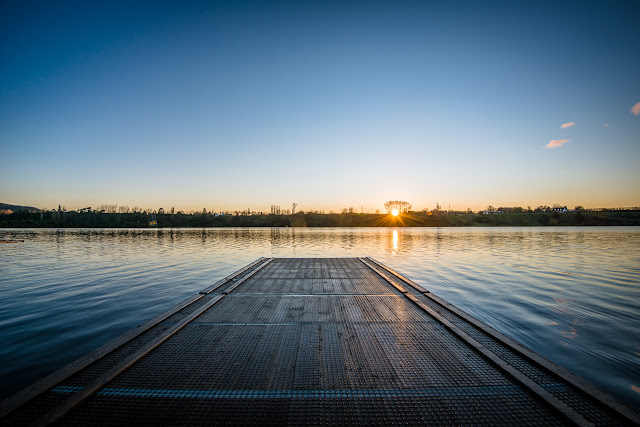 Sunrise from the landing Lake Karapiro