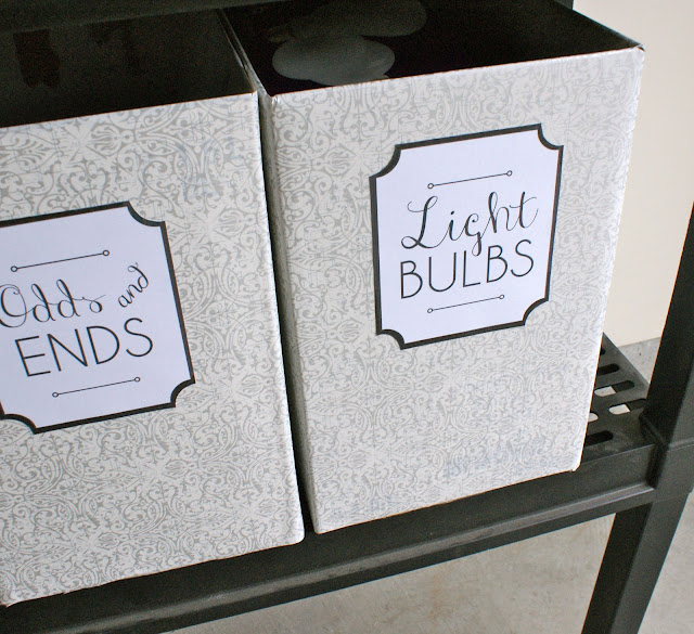 Beautiful Oversized Garage Bins and Labels
