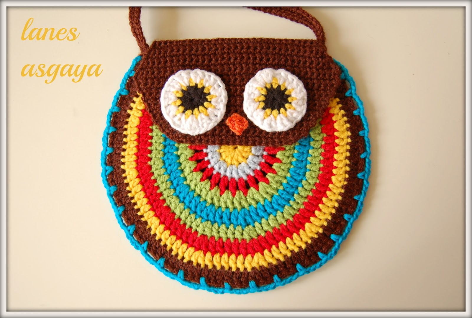 Lujoso Crochet Patrón Monedero Búho Motivo - Manta de Tejer Patrón ...