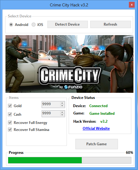 How does the Patch for Crime City work