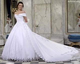 Fotos de Vestidos de Noiva Estilo Princesa e Tradicional