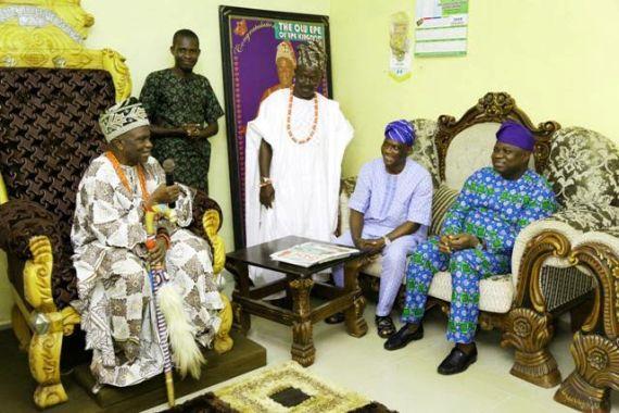 Ambode and  Oba Sefiu Olatunji Adewale.