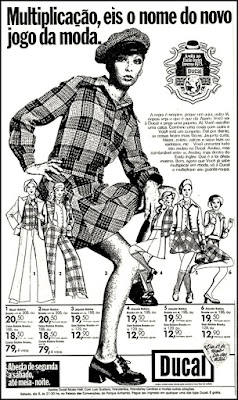Ducal, moda anos 70; propaganda anos 70; história da década de 70; reclames anos 70; brazil in the 70s; Oswaldo Hernandez