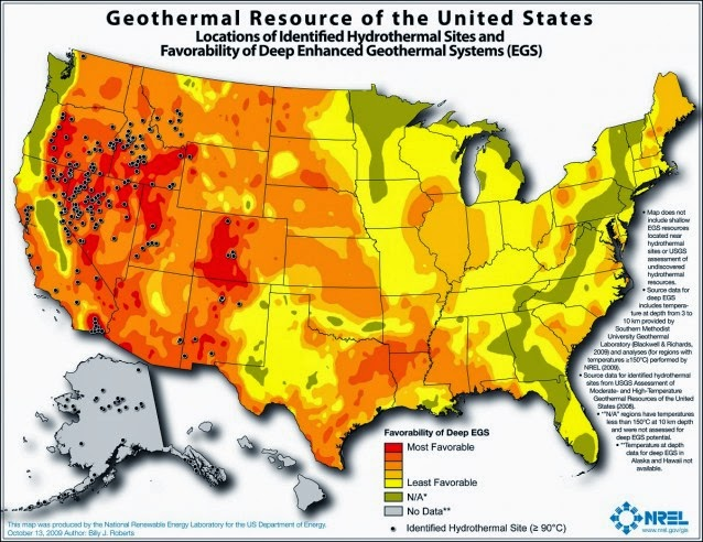 Geothermal Resource (Credit: National Renewable Energy Laboratory) Click to enlarge.