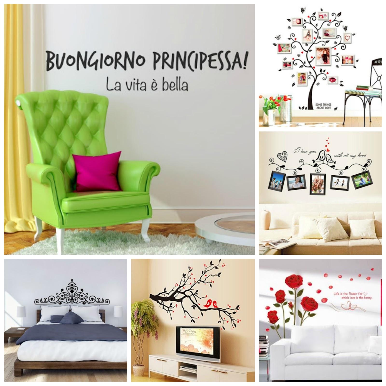 Adesivi murali idea economica per decorare le pareti con for Adesivi per parete