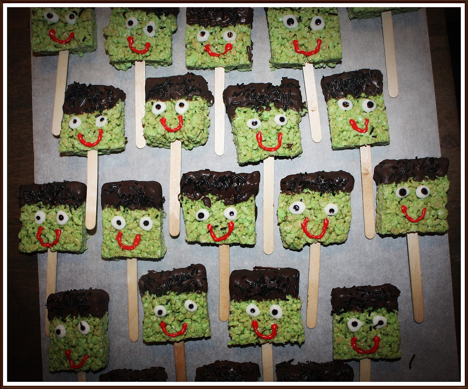 Mommy, Can I Lick the Spoon?: Halloween Fun: Frankenstein Rice ...
