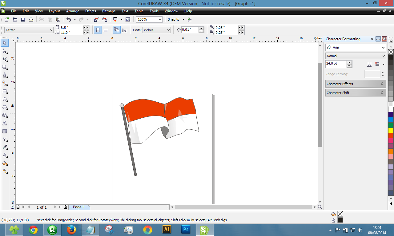 Finish Bendera Merah Putih