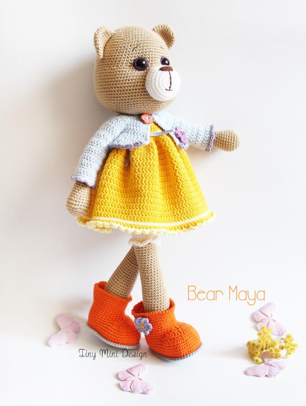 Amigurumi Bear Maya : Amigurumi Ayi Maya -Amigurumi Bear Maya - Knitting ...