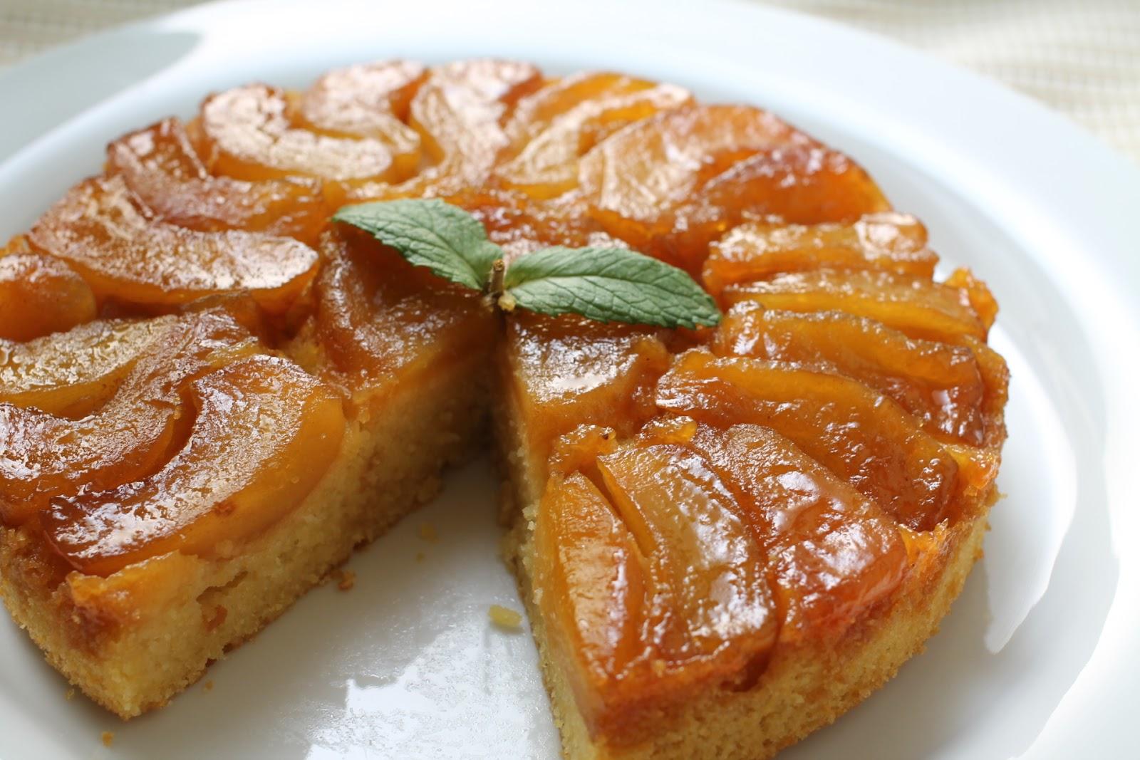 my bare cupboard: Apple-Cornmeal Upside Down Cake