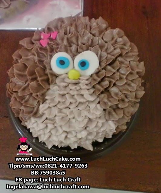 owl mini cake - burung hantu mini cake
