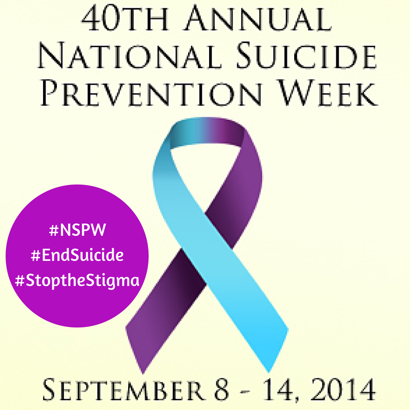 As survivors of suicide, my family would like to encourage your family to show your support during National Suicide Prevention Week.