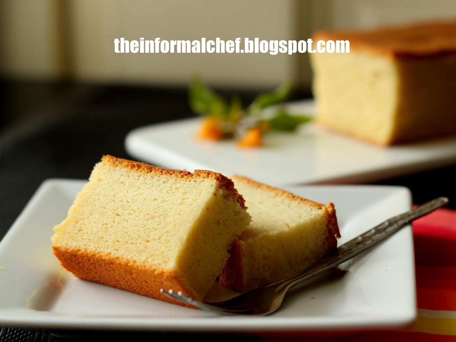 the informal chef easy sponge cake recipe tang mian method. Black Bedroom Furniture Sets. Home Design Ideas
