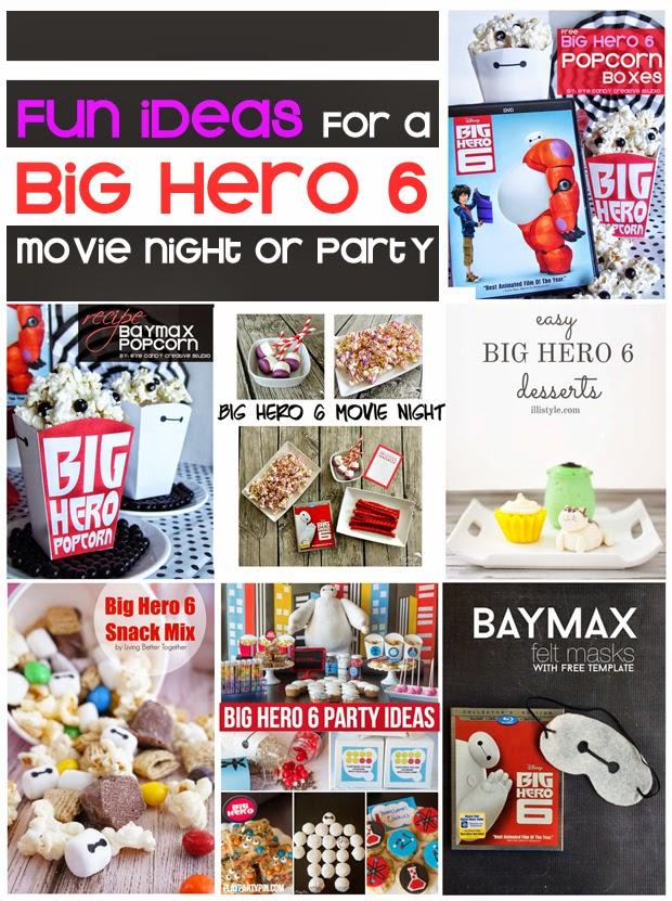 big hero 6 popcorn boxes, baymax popcorn, recipe, snack mix, big hero 6 desserts, party ideas, baymax felt mask DIY