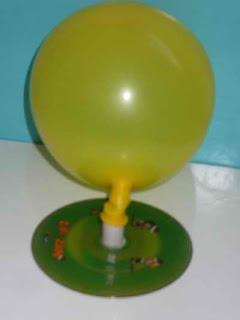 Experimentos caseros globo juguete aerodeslizador