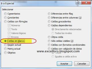 Eliminar filas en blanco en hojas de Excel.