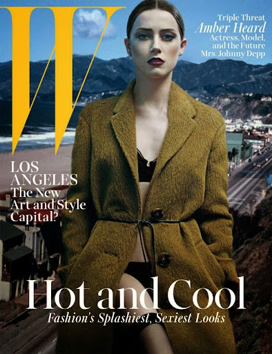 Amber Heard sexy lingerie W Magazine photoshoot