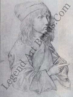 Self portrait In 1484, Direr looked into a mirror and drew this self portrait in silverpoint  using a silver stylus on specially coated paper. It is his earliest known work, executed at the age of 13, and already displays signs of the prodigious artistic talent which later brought him international renown.
