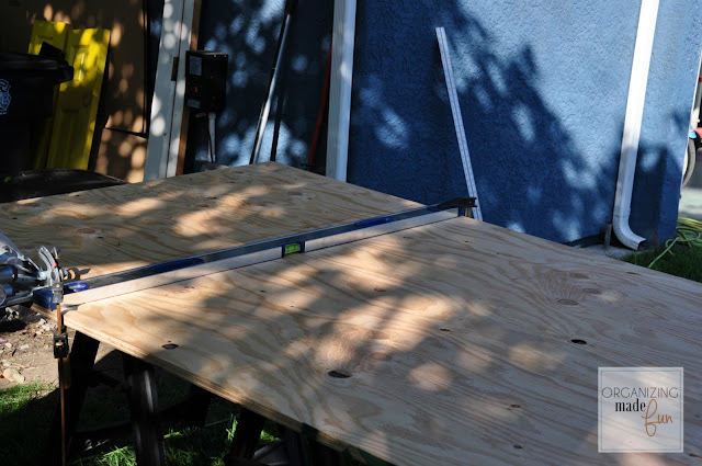 3/4 inch plywood cut down for desktop :: OrganizingMadeFun.com