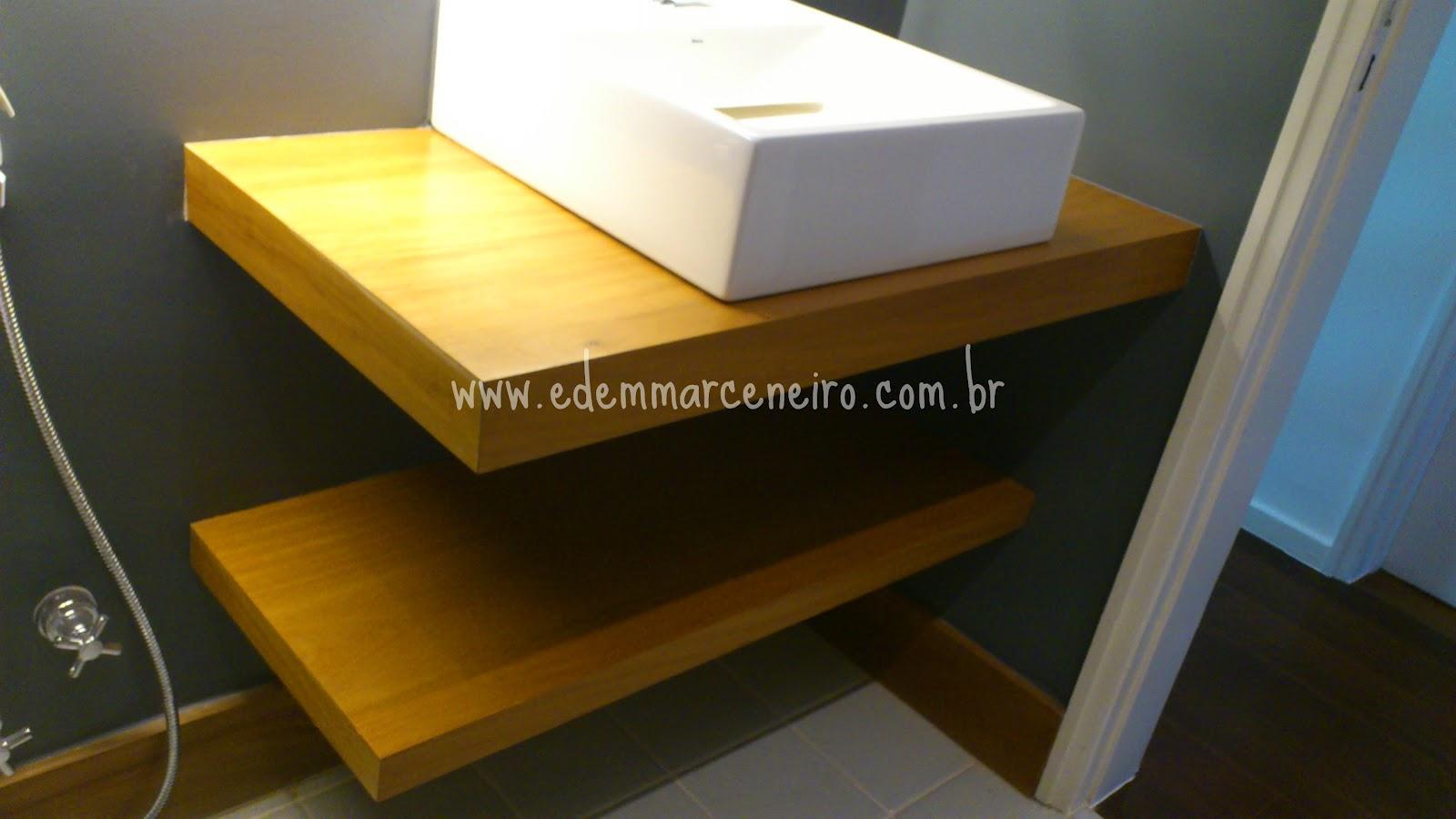 Aproveite e siga o Instagam Edem marceneiro e curta a página Edem  #C1A30A 1600x900 Banheiro Com Bancada De Madeira