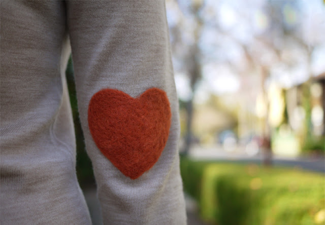 No Sew DIY-Heart Shaped Elbow Patches