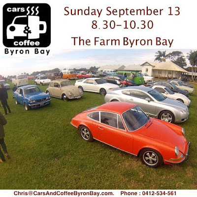 Cars and Coffee Byron Bay Sunday 14th September