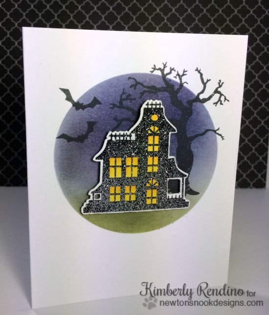 Haunted House Halloween Card by Kimberly Rendino | Spooky Street stamp set by Newton's Nook Designs #newtonsnook