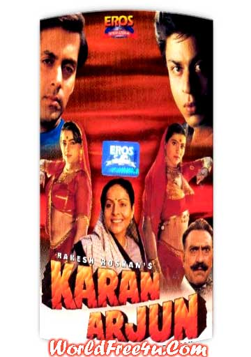 Poster Of Hindi Movie Karan Arjun (1995) Free Download Full New Hindi Movie Watch Online At worldfree4u.com
