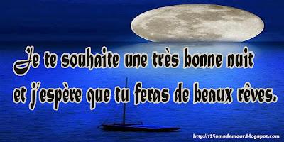Bonne nuit N'oublie pas de faire de beaux rêves