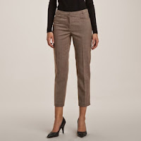 Pantaloni pana punctati pentru femei
