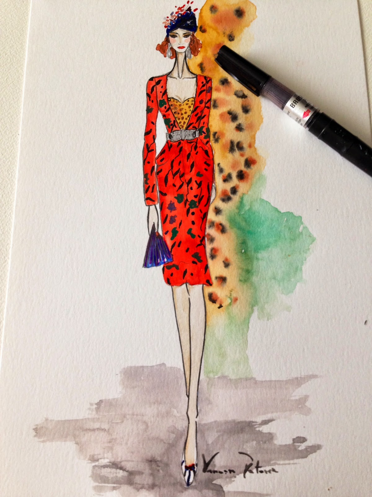 Naty Abascal ilustración de moda