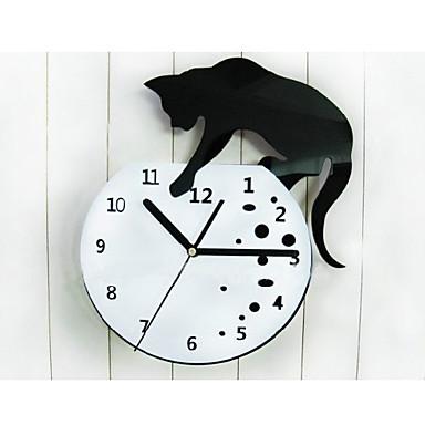Reloj de pared con gato travieso relojes de pared - Reloj para pared ...