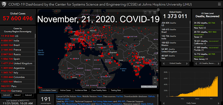 Global Cases by the Center for Systems Science and Engineering (CSSE) at Johns Hopkins University