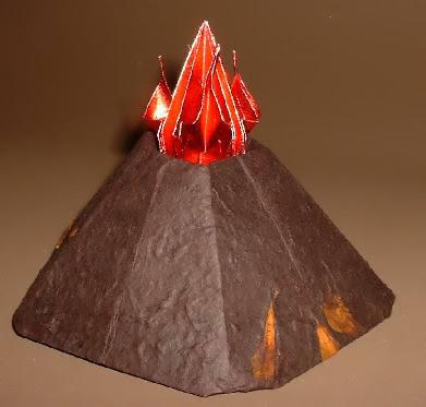 Вулкан поделка из бумаги 76