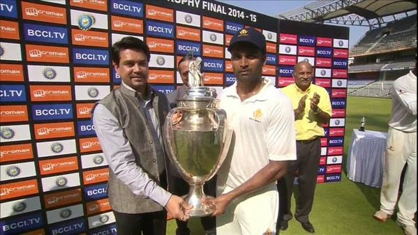 Captain Vinay Kumar - Ranji Trophy 2014-15 Final, Karnataka vs Tamil Nadu