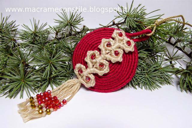 macrame - margarete palla natalizia