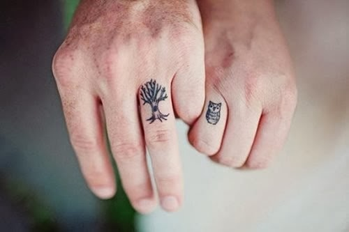 Tatuagem desenho para casal