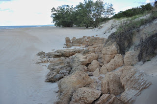 cemented sand boulders