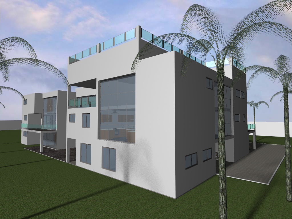House craft concepts 8 bed modern mansion for Mini mansion house plans