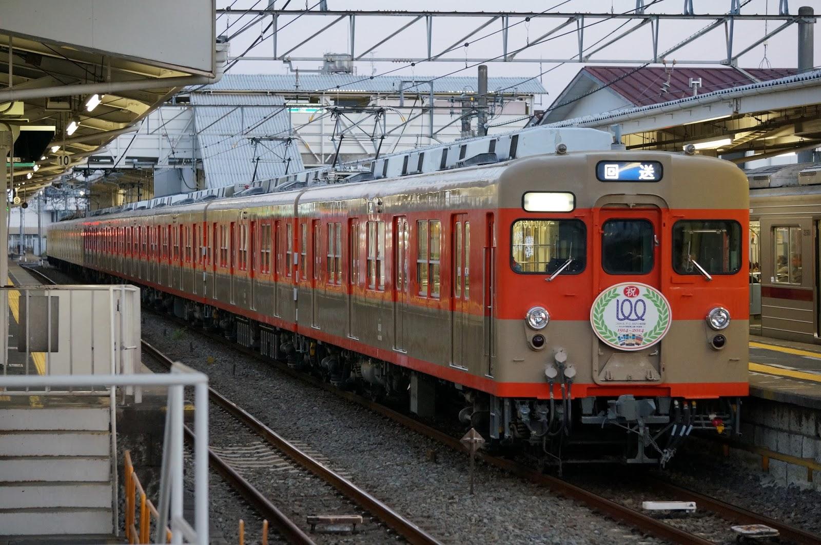 川越市駅停車中の8111F+81111F回送列車