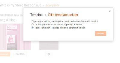 non aktifkan template seluller blogspot