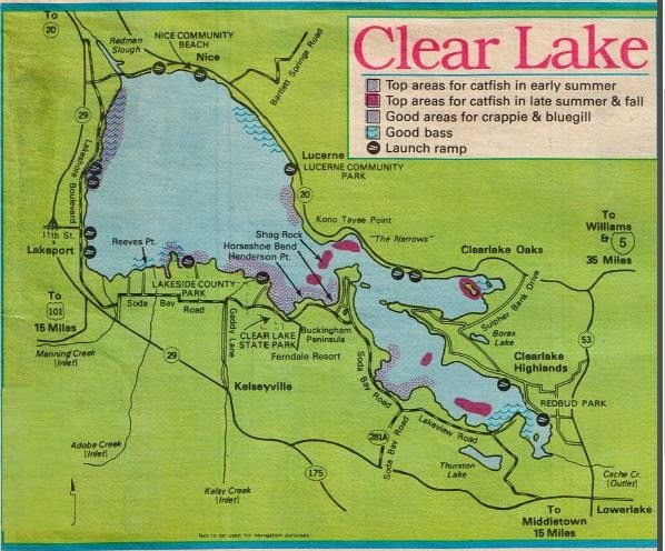 2018 clear lake fishing map fishing report and where to ForClear Lake Fishing