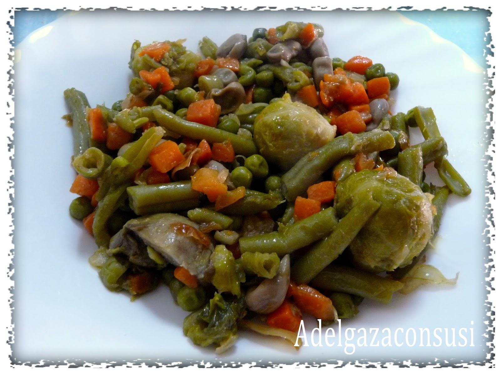 Recetas light adelgazaconsusi menestra de verduras muy - Como preparar menestra de verduras ...