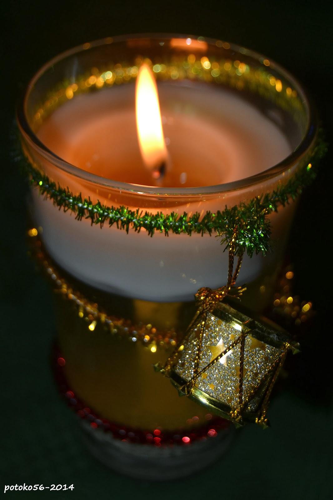 vela decorativa de olor
