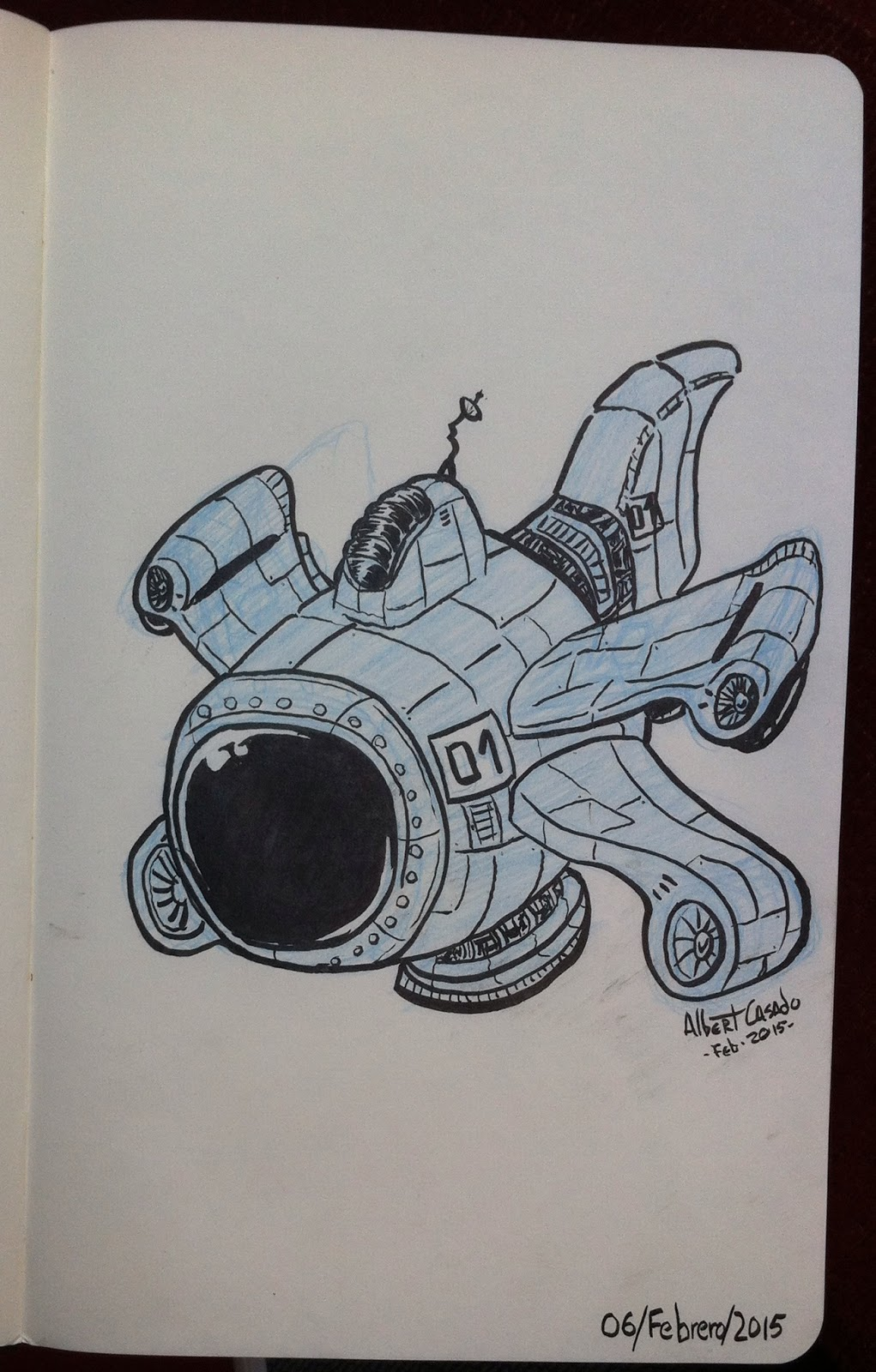 01 - Spaceship (100MechDrawings) - Albert Casado