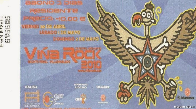 entrada festival viñarock 2010