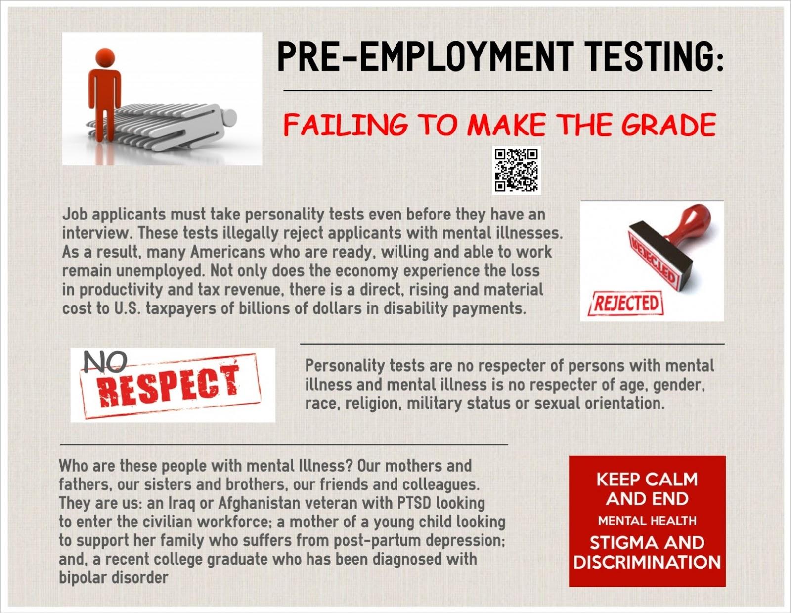 Employment Testing Failing To Make The Grade Pre Employment