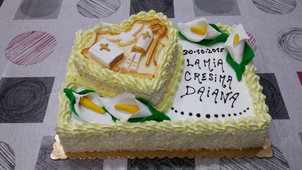 Super passione torte: torta per cresima con cuore SM88